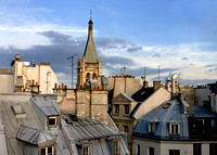 Paris Cityscape with Church in Latin Quarter
