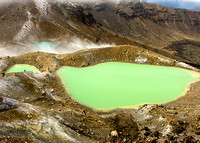 Emerald Lakes in Tongariro National Park - New Zealand