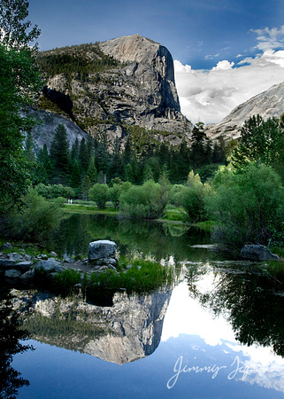 Yosemite National Park with Water Reflection of El Capitan