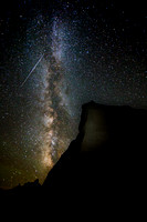 Badlands at Night with Milky Way